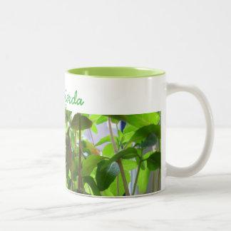 植物は名前の成長する種を保ちます ツートーンマグカップ