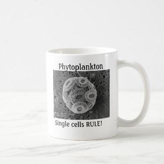 植物プランクトン、単一セルの規則! コーヒーマグカップ
