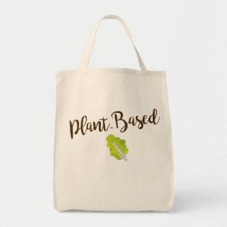 植物ベースの食料雑貨のトート トートバッグ