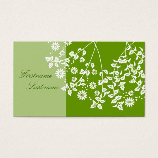 植物柄 名刺  visiting card