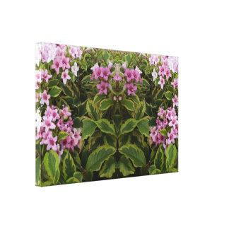 植物741の鏡のトリムのピンクブッシュの精神 キャンバスプリント