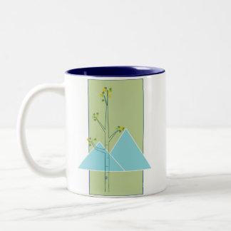 《植物》アスペンおよび山のマグ ツートーンマグカップ