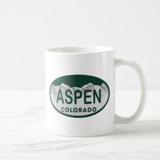 《植物》アスペンのコロラド州のナンバープレート コーヒーマグカップ