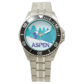 《植物》アスペンのスキー円 腕時計