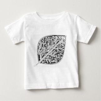 《植物》アスペンのフロストの葉 ベビーTシャツ
