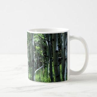 《植物》アスペンの木のコーヒー・マグ コーヒーマグカップ