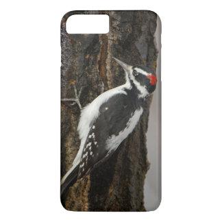 《植物》アスペンの木、壮大なTetonの毛深いキツツキの男性 iPhone 8 Plus/7 Plusケース