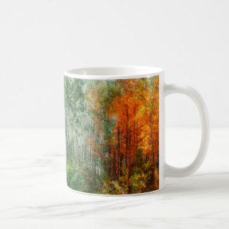 《植物》アスペンの芸術のマグの季節 コーヒーマグカップ