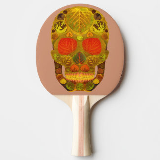 《植物》アスペンの葉のスカル12 卓球ラケット
