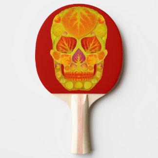 《植物》アスペンの葉のスカル13 卓球ラケット