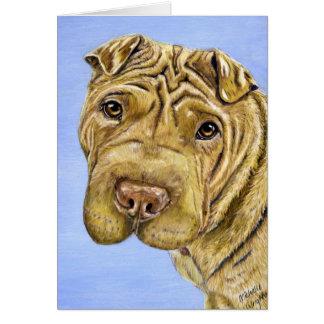 《植物》アスペン- Shar Pei犬の芸術 カード