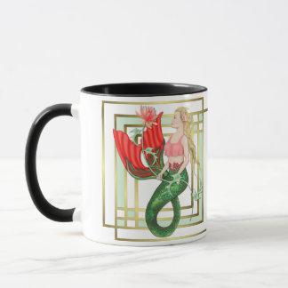 《植物》スイレンの人魚のファンタジー マグカップ