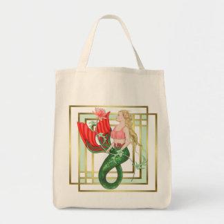 《植物》スイレンの人魚 トートバッグ