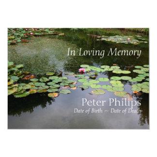 《植物》スイレンの生命の平和な庭のお祝い カード