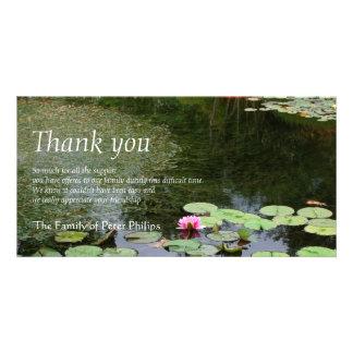 《植物》スイレン2の平和な庭の悔やみや弔慰は感謝していしています カード