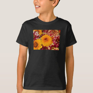 《植物》百日草の爆発 Tシャツ