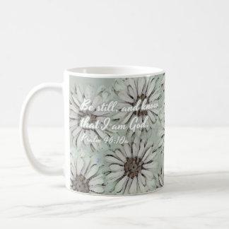 《植物》百日草の聖書の詩のアートワークのコーヒー・マグ コーヒーマグカップ