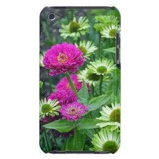 《植物》百日草の花のプリントのipod touchのピンクの場合 Case-Mate iPod touch ケース