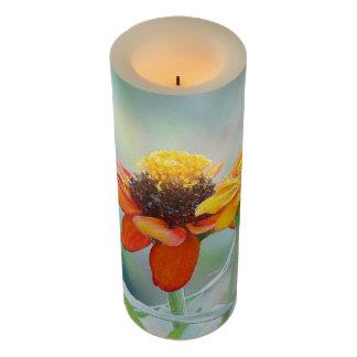 《植物》百日草の花の花柄の庭 LEDキャンドル