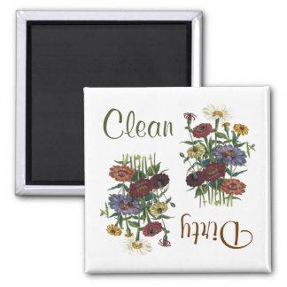 《植物》百日草の花の食洗機の磁石 マグネット