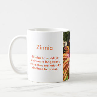 《植物》百日草の花 コーヒーマグカップ
