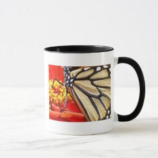 《植物》百日草の蝶 マグカップ