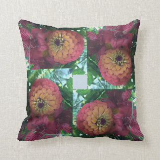 《植物》百日草の装飾用クッション クッション