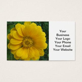 《植物》百日草の黄色い金花 名刺