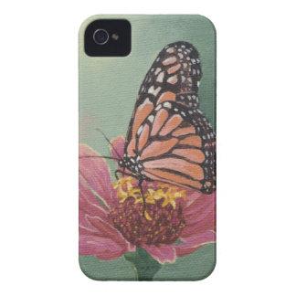 《植物》百日草の0465マダラチョウ Case-Mate iPhone 4 ケース
