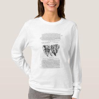 椎骨、Cocyx (b/wのプリント) Tシャツ