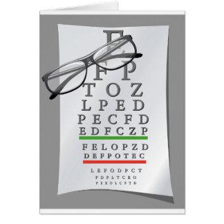検眼医の図表の挨拶状 カード