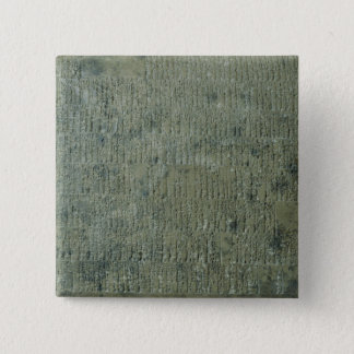 楔形の原稿が付いているタブレット 5.1CM 正方形バッジ