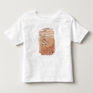 楔形の原稿、紀元前のc.1830-1530が付いているタブレット トドラーTシャツ