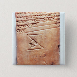 楔形の原稿、紀元前のc.1830-1530が付いているタブレット 5.1cm 正方形バッジ
