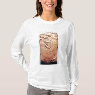楔形の原稿、紀元前のc.1830-1530が付いているタブレット tシャツ