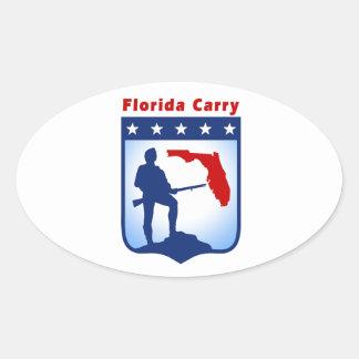 楕円形のフロリダはステッカーを運びます 楕円形シール