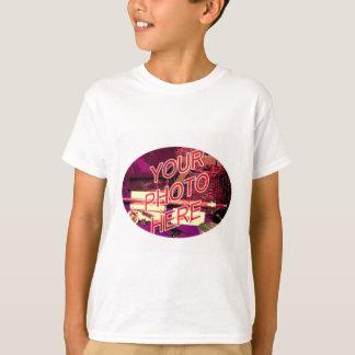 楕円形の写真フレーム Tシャツ