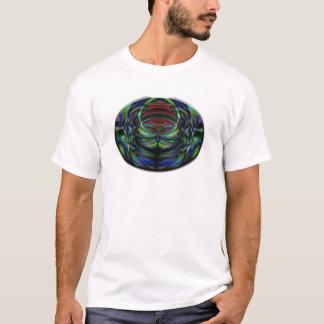 楕円形の抽象的な蝶 Tシャツ