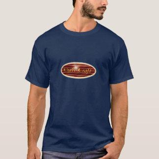 楕円形クリスの技術のボート Tシャツ