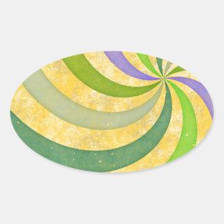 楕円形シール