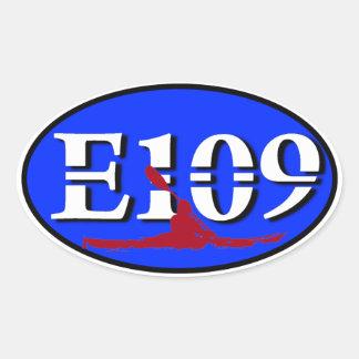 楕円形E109ユーロのステッカー 楕円形シール