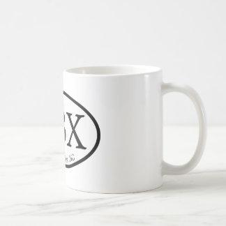 楕円形OBXの外銀行 コーヒーマグカップ