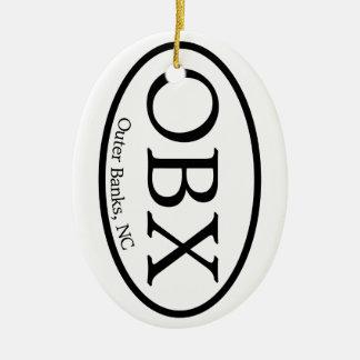 楕円形OBXの外銀行 セラミックオーナメント