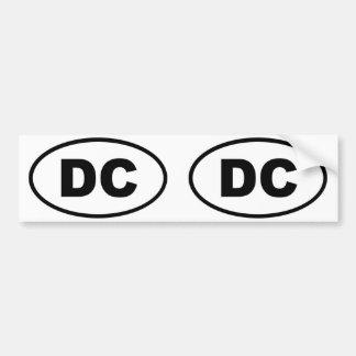 楕円形Washington D.C.のコロンビア特別区 バンパーステッカー