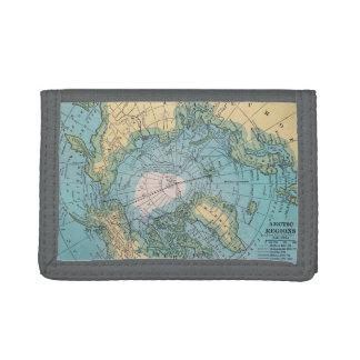 極寒地帯の地図の財布 ナイロン三つ折りウォレット