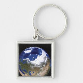 極寒地帯を示す地球の眺め キーホルダー