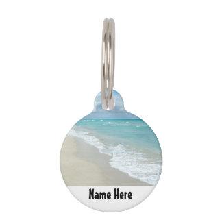 極度なくつろぎのビーチの眺め ペット ネームタグ