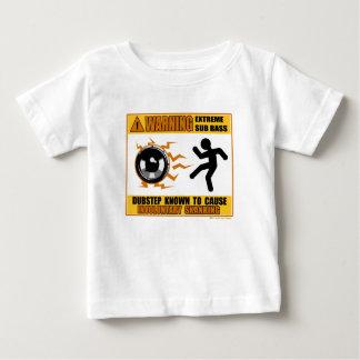 極度な低音を警告するDUBSTEP ベビーTシャツ