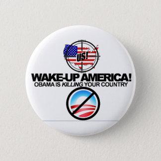 極度な反オバマはボタン01冗談を言います 5.7CM 丸型バッジ