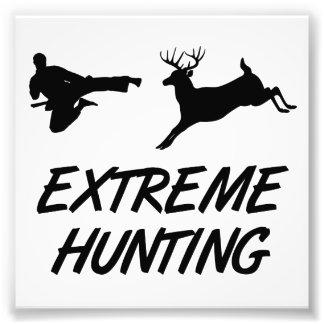 極度な狩りの空手の蹴りのシカ フォトプリント
